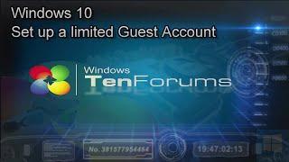 Windows 10 - Create a Guest Account in Windows 10