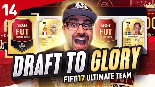 MOST INCREDIBLE DRAFT TEAM EVER! DRAFT TO GLORY FIFA 17 ULTIMATE TEAM #14