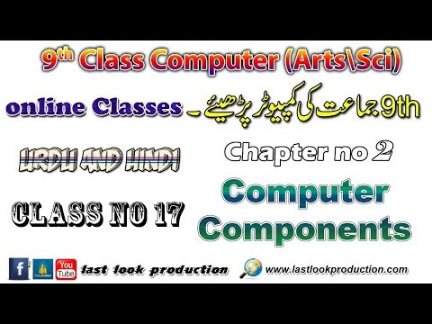 9th Computer Science Online Course [Input / Output devices?] - Class # 17 (Urdu\Hindi)