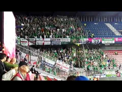 """Northern Ireland fans """"Will Grigg's On Fire"""" during their draw in the Czech Republic last night."""
