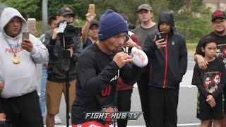 MANNY PACQUIAO SHOWS CRAZY SPEED AT 40 YEARS OLD TRAINING FOR KEITH THURMAN