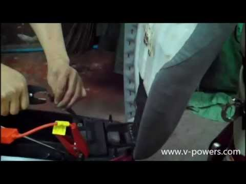 V-POWERS A5 : ทดสอบการจั๊มสตาร์ทรถจักรยานยนต์ Yamaha Fino