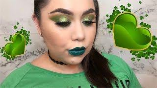 St. Patty's Glitter Glam | Makeup Tutorial | Tiana Medrano