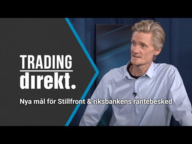 Trading Direkt 2020-09-22: Nya mål för Stillfront! // Teknisk analys // Riksbankens räntebesked