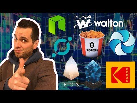 Crypto Weekend Update | KFC | EOS | Walton | Kodak | HPB | VeChain | ICON | ICX WTC VEN NEO LSK