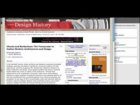 JSTOR Database at USF