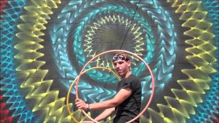 Benjamin Berry Hula Hoop Dances with Atlanta Street Art by HOXXOH