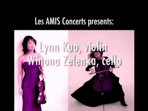 Winona Zelenka, cello; Lynn Kuo, violin: February 2, 2010 Concert Promo, Toronto
