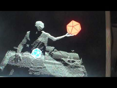 Kinect + Platonic Solids :: Interactive Healing Space :: Test 1.62