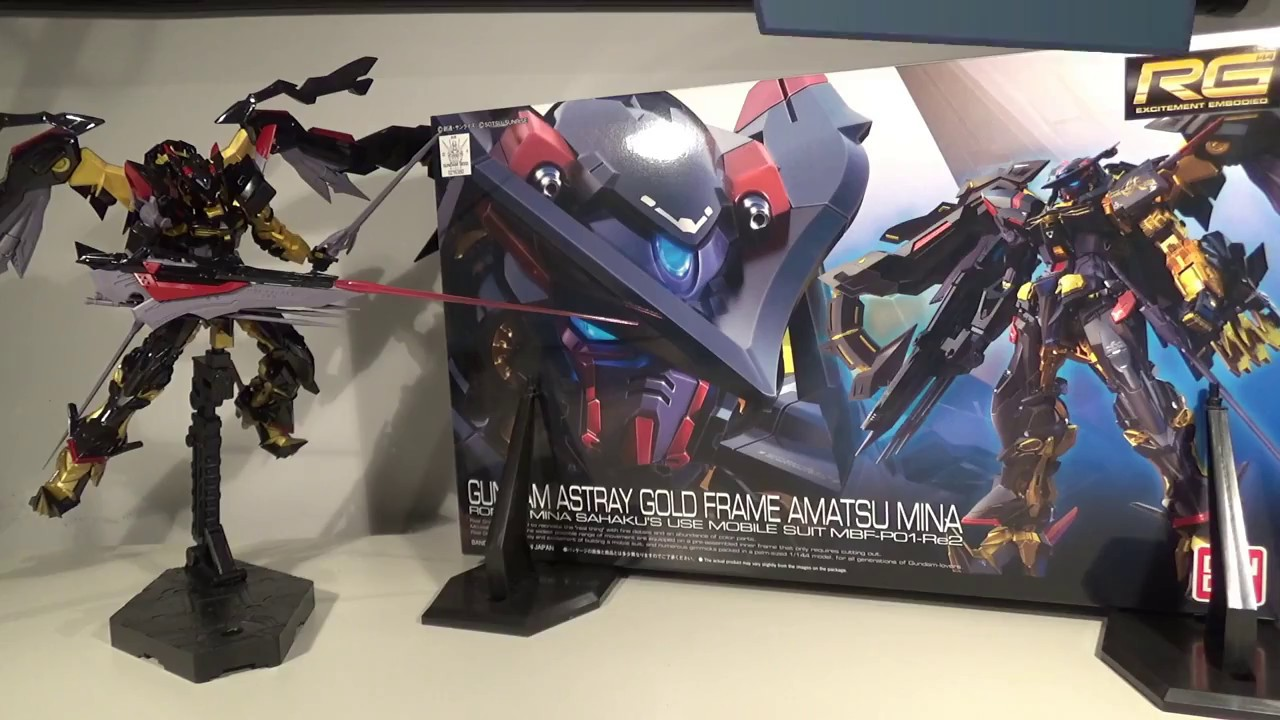 1/144 RG Gundam Astray Gold Frame Amatsu Mina Review - YouTube