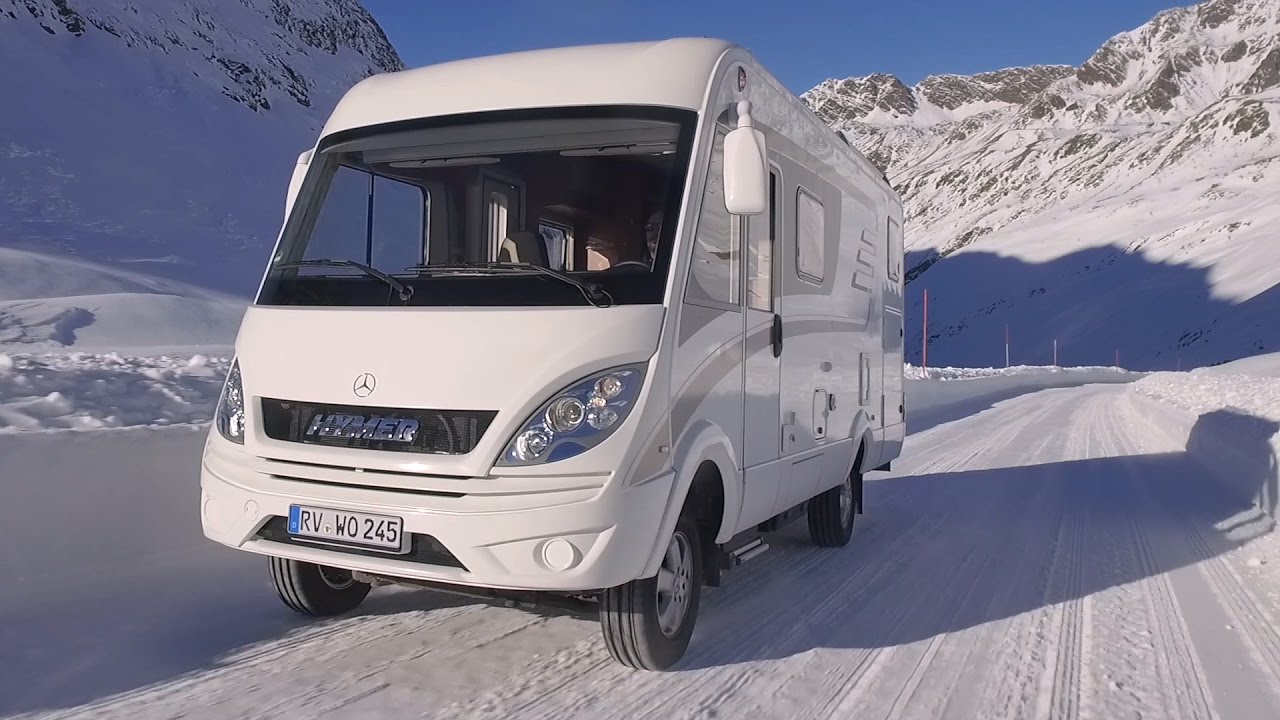 Hymer ml i based on mercedes benz sprinter 4x4 youtube for Mercedes benz winter event commercial