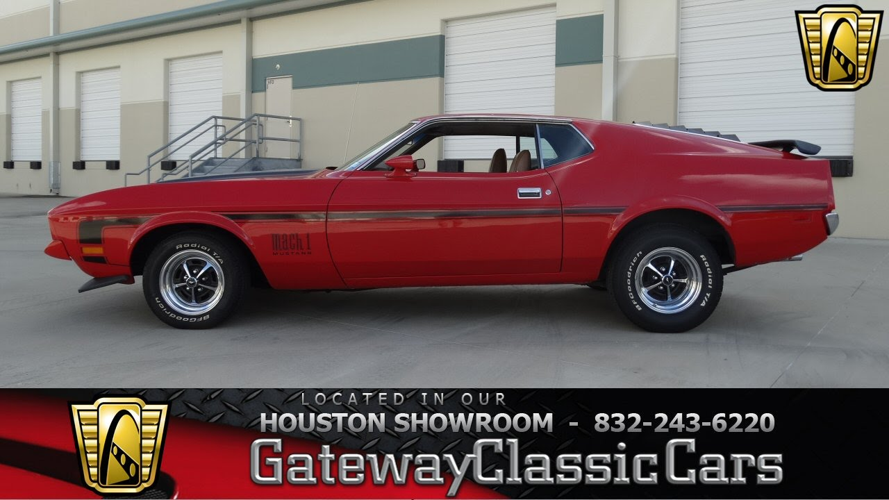 1972 ford mustang mach 1 gateway classic cars of houston stock 454 hou