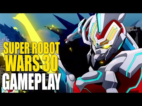 Super Robot Wars 30 - 8 minutes of finishing moves & gameplay