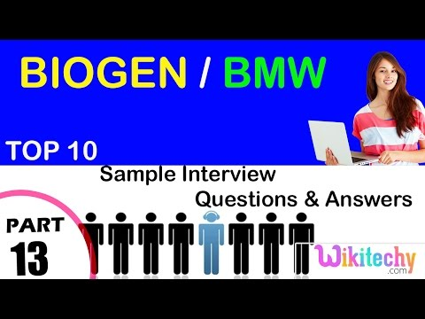biogen | bmw top most interview questions and answers  for freshers/experienced