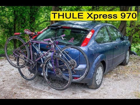 Установка багажника на фаркоп THULE Xpress 970