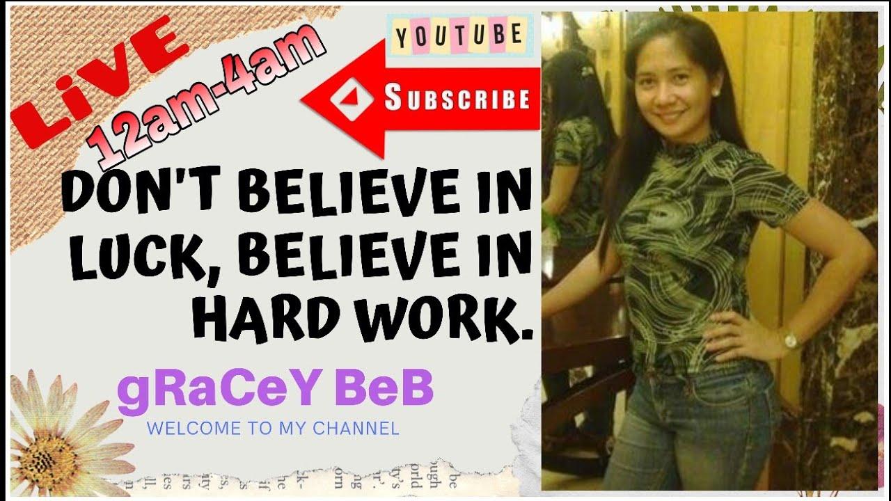 Don't Believe In Luck, Believe in Hard work.
