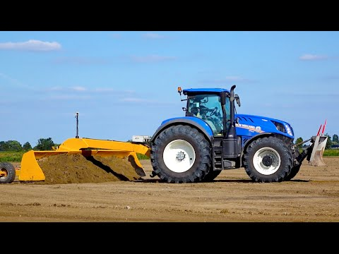 Field Leveling | New Holland T7.290HD & Challenger MT 765C | M. Van Gastel Kilveren
