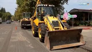 В Керчи идет ремонт федеральной трассы