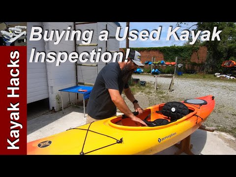 Buying a Used Kayak Tips - Recreational Kayak Inspection