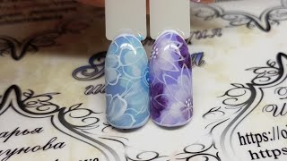 Nail art Flowers. Дизайн ногтей. Флористика. Цветы на ногтях. дизайн к 8 марта