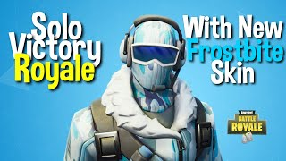 Solo Win with the new Frostbite skin! Fortnite Battle ROYALE Mobile