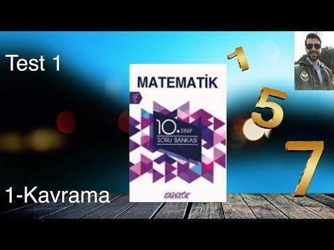 Karekök Yayınları, 10. Sınıf Matematik, Ünite 1, Kavrama Test-1