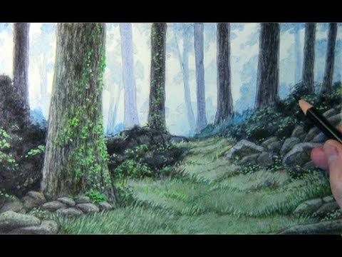 Speedpaint Forest Background Youtube