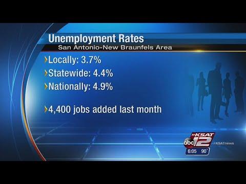 Unemployment rates remain steady in San Antonio, New Braunfels