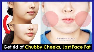 How to get rid of Chubby Cheeks, Lost Face Fat and make your Face Slimmer | Face Yoga and Massage.