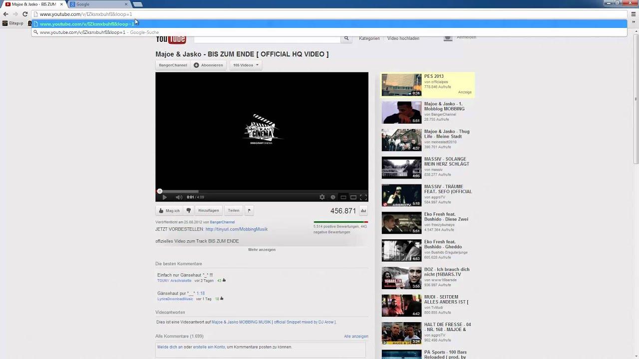 Youtube Video Wiederholen