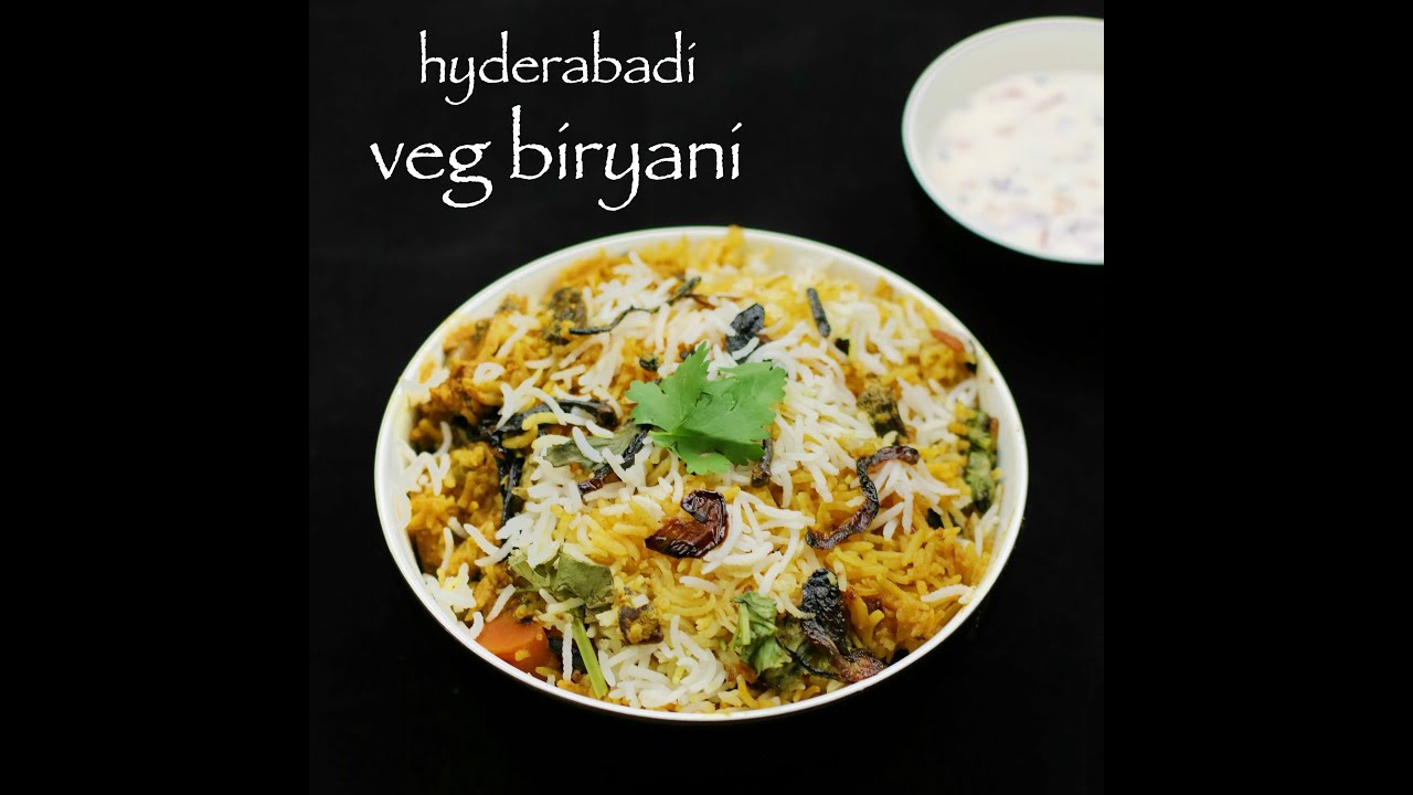 Hyderabadi vegetable biryani recipe veg biryani recipe youtube hyderabadi vegetable biryani recipe veg biryani recipe forumfinder Choice Image