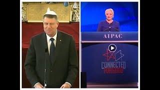 Iohannis şi Dăncilă SE ÎNTREC ÎN SLUGĂRNICIE față de sionism