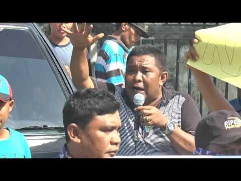 kepala desa terong tawah di demo warga TERKAIT KASUS NARKOBA