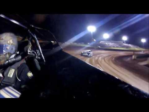 #5 Glenn Elliott - Super Late Model - 8-19-16 Crossville Speedway - In Car Rear Camera