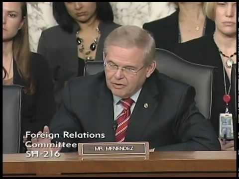 Senator Menendez Questions Secretary Clinton at Senate Foreign Relations Hearing