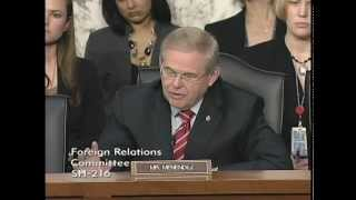 Senator Menendez Questions Secretary Clinton at Senate Foreign Relations Hearing