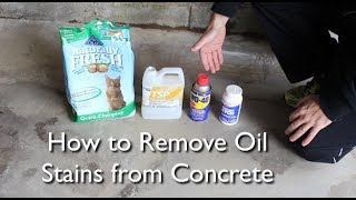 How to Remove an Oil Stain from Concrete -- by Home Repair Tutor