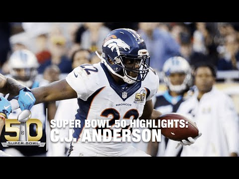 C.J. Anderson Super Bowl 50 Highlights | Panthers vs. Broncos | NFL