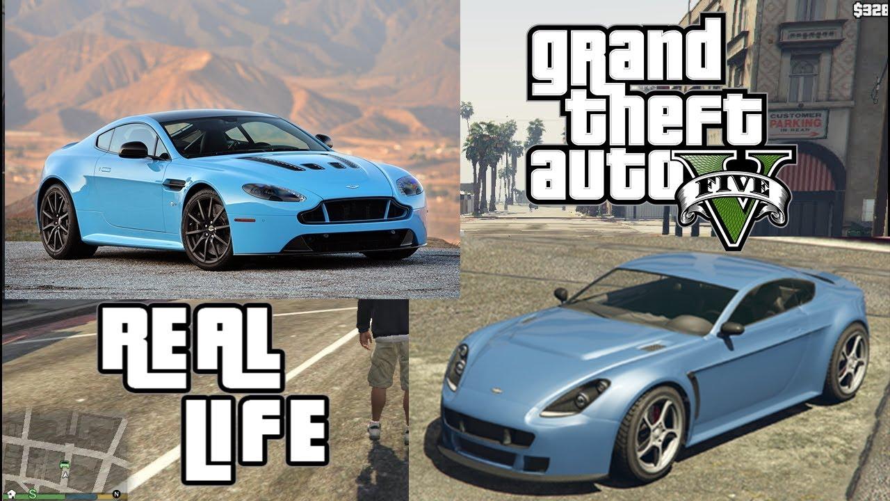 Gta V Cars In Real Life Aston Martin Youtube
