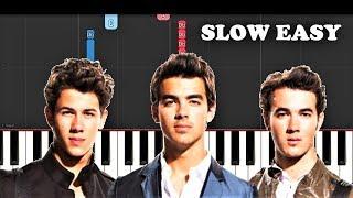 Jonas Brothers - Sucker (SLOW EASY PIANO TUTORIAL)