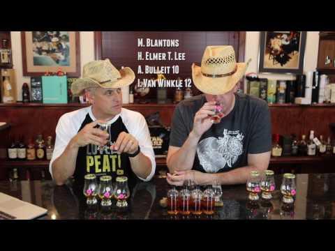 Big 16 Bottle Blind Bourbon Shootout Bracket #2 of 4...Van Winkle, Elmer T. Lee, Blanton's