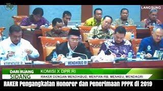 Pengumuman Penerimaan PPPK Hasil RAKER DPR R  Tentang Pengangkatan PPPK 2019 Part 1