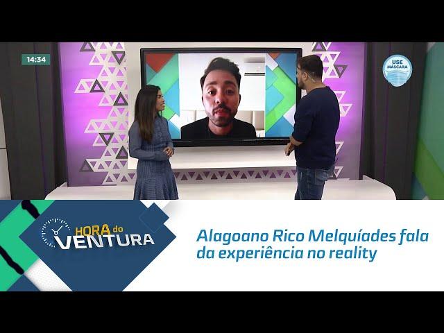 Alagoano Rico Melquíades fala da experiência no reality 'De Férias com o Ex'