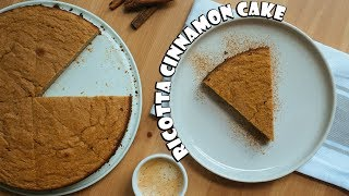 Keto Cinnamon Ricotta Cake   Nut Free Dessert