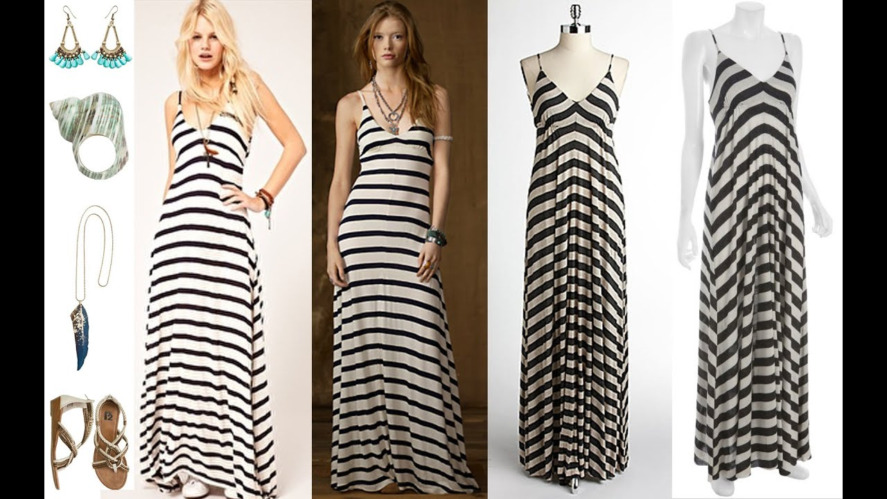 Top 100 Striped maxi dresses, black and white striped maxi dress ...