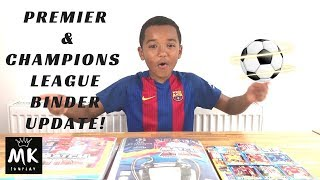 Match attax champions and premier league binder up date and match of the day magazine cards
