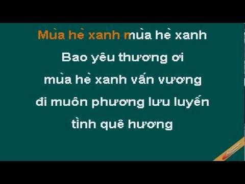 Mua He Xanh Karaoke - Lam Trường - CaoCuongPro