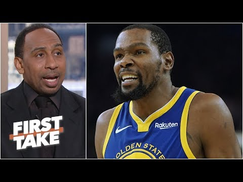 Kevin Durant will drop 40 on the Lakers - Stephen A. l First take