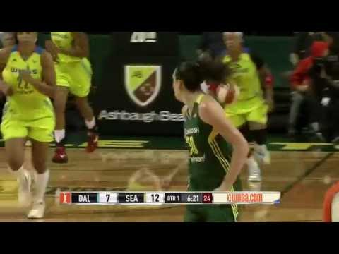Breana Stewart 17 & 12 defeated the Dallas Wings on 1st sep 2016
