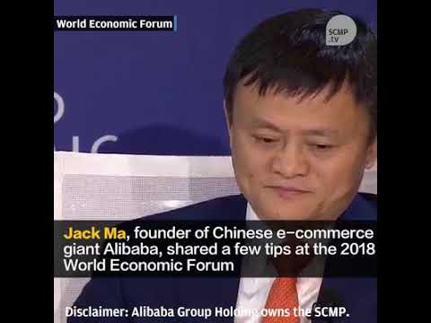 Jack Ma at World Economic Forum Davos
